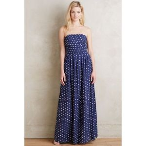 Anthro Madame ShouShou Polka Dot Maxi Dress